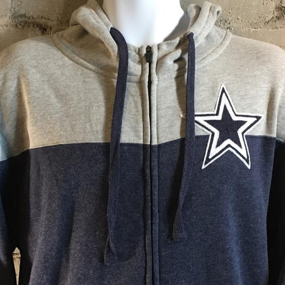 Men/'s Dallas Cowboys Quorum Full Zip Hoody Navy